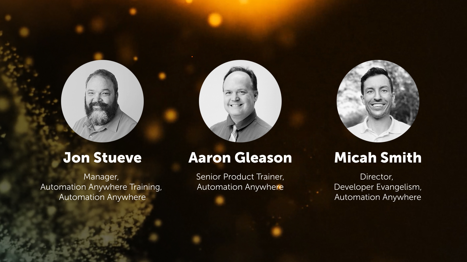 Panel of Imagine Tech Track Presenters & RPA Experts